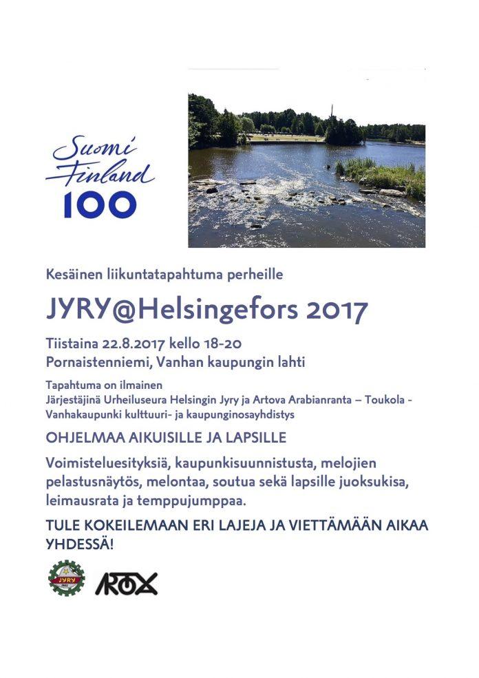 JYRYHelsinge fors 2017 Kesäinen liikuntatapahtuma perheelle v3 ma